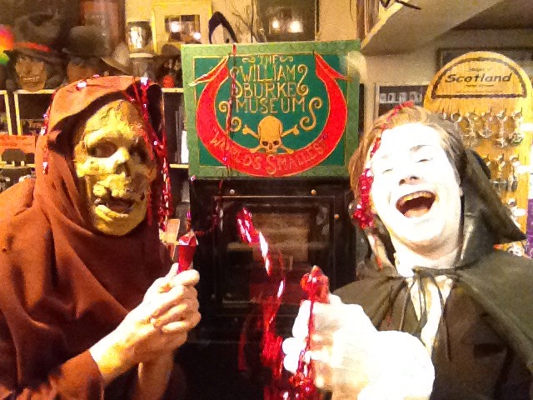 The William Burke Museum celebrates with the Mad Monk and Adam Lyal (deceased)