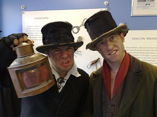 Burke & Hare visit Edinburgh's Police Information Centre