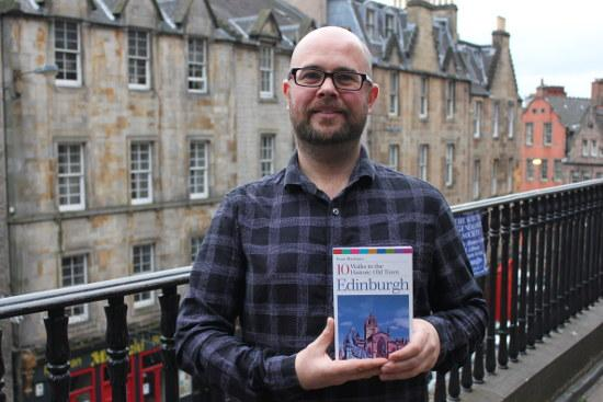 Euan MacInnes with his book, Edinburgh: 10 Walks in the Historic Old Town