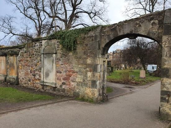 Section of the Flodden Wall in Greyfriars Kirkyard, Edinburgh
