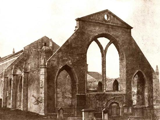 Greyfriars Kirk after the fire of 1845
