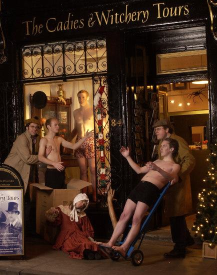 New Dummies shipped in for the shop window (Christmas card 2003)