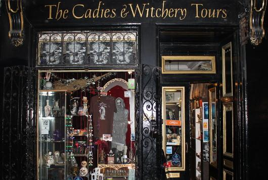 The Cadies & Witchery Tours shop, 84 West Bow.