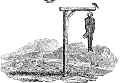 "The Gallows (from Bewick's ""History of British Birds"", 1804)"