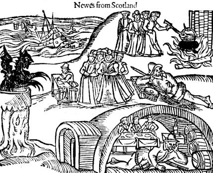 Illustration of the case from the contemporary pamphlet, Newes from Scotland - declaring the damnable life and death of Dr. John Fian
